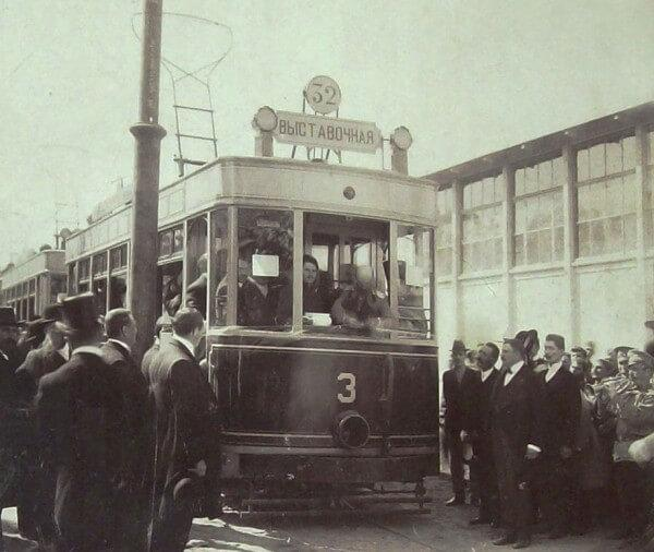 September 1910, the first electric tram in Odessa.